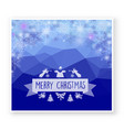 christmas celebratory banner for design new year vector image