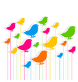 colorful bird design pattern background design vector image vector image