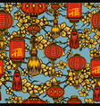 colorful chinese festive seamless pattern vector image