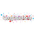 Congratulations paper banner vector image vector image