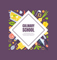 cooking class banner template culinary courses or vector image vector image