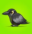 crow cartoon vector image vector image