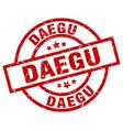 daegu red round grunge stamp vector image vector image