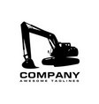 excavators construction machinery logo vector image