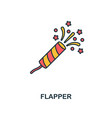 flapper with confetti icon creative 2 colors vector image vector image