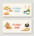 french cuisine traditional food vector image vector image