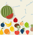 Fruit pattern The image of fruits and berries vector image vector image