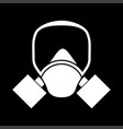 gas mask white color icon vector image vector image