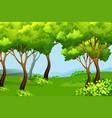 green forest nature landscape vector image vector image