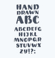 hand drawn abc upper case letters set vector image vector image