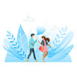 happy best friends having good time together vector image vector image