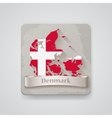 icon denmark map with flag vector image