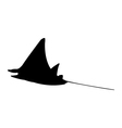 icon manta fish vector image vector image