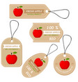 labels with various fruitsfor apples vector image vector image