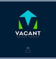 logo vacant estate agency rental property vector image