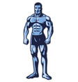 man with muscle bodybuilder body vector image vector image