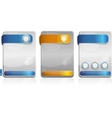 metal cards vector image vector image