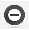 Minus sign icon Negative symbol vector image vector image
