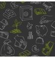 Money symbols doodle sketch seamless