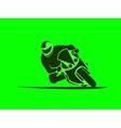 Motorcycle sport racer vector image vector image