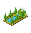 nature in pixels design vector image vector image