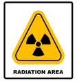 Octagon yellow and black caution with radiation vector image vector image