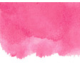 pink abstract watercolor isolated on white vector image