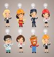 professions idea set1 vector image vector image