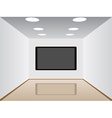 room with a plasma tv vector image vector image