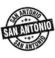 san antonio black round grunge stamp vector image