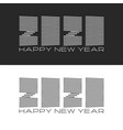 set logo 2020 number and text happy new year vector image vector image