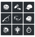Set of Clay Shooting Icons Plate Bullet vector image