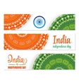 Set of watercolor banners Indian Flag for vector image vector image