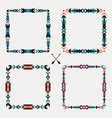 set with abstract geometric ethnic frames vector image vector image