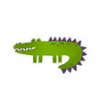 soft toy crocodile flat vector image vector image