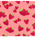 Strawberry Seamless Pattern Pink3 vector image