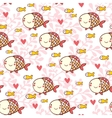 Sweet childish seamless pattern with fish vector image