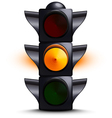 Traffic light on yellow vector image vector image