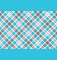 turquoise plaid check fabric seamless pattern vector image vector image