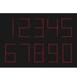 Ultra thin red numbers vector image