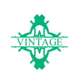 vintage ornamental label vector image