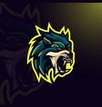 wolf gaming logo vector image vector image