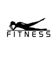woman fitness silhouette character design vector image