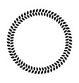wreath ring of black leafs simple flat vector image vector image