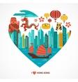 Hong Kong love background and vector image