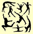 gymnastic sport silhouette