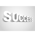 3D Success vector image vector image