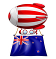 A stripe-colored balloon with the flag of New vector image vector image