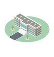 Administrative Building in Isometric Projection vector image