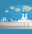 air and water pollution with factory vector image
